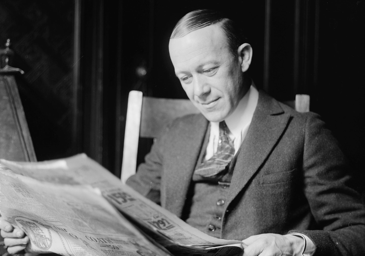 Ernest Hare Reading a Newspaper