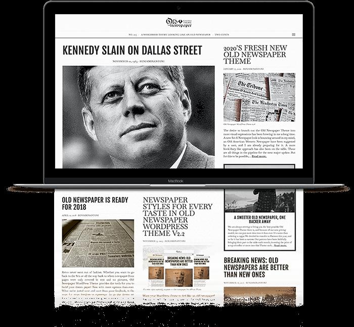 The Old Newspaper WordPress Theme