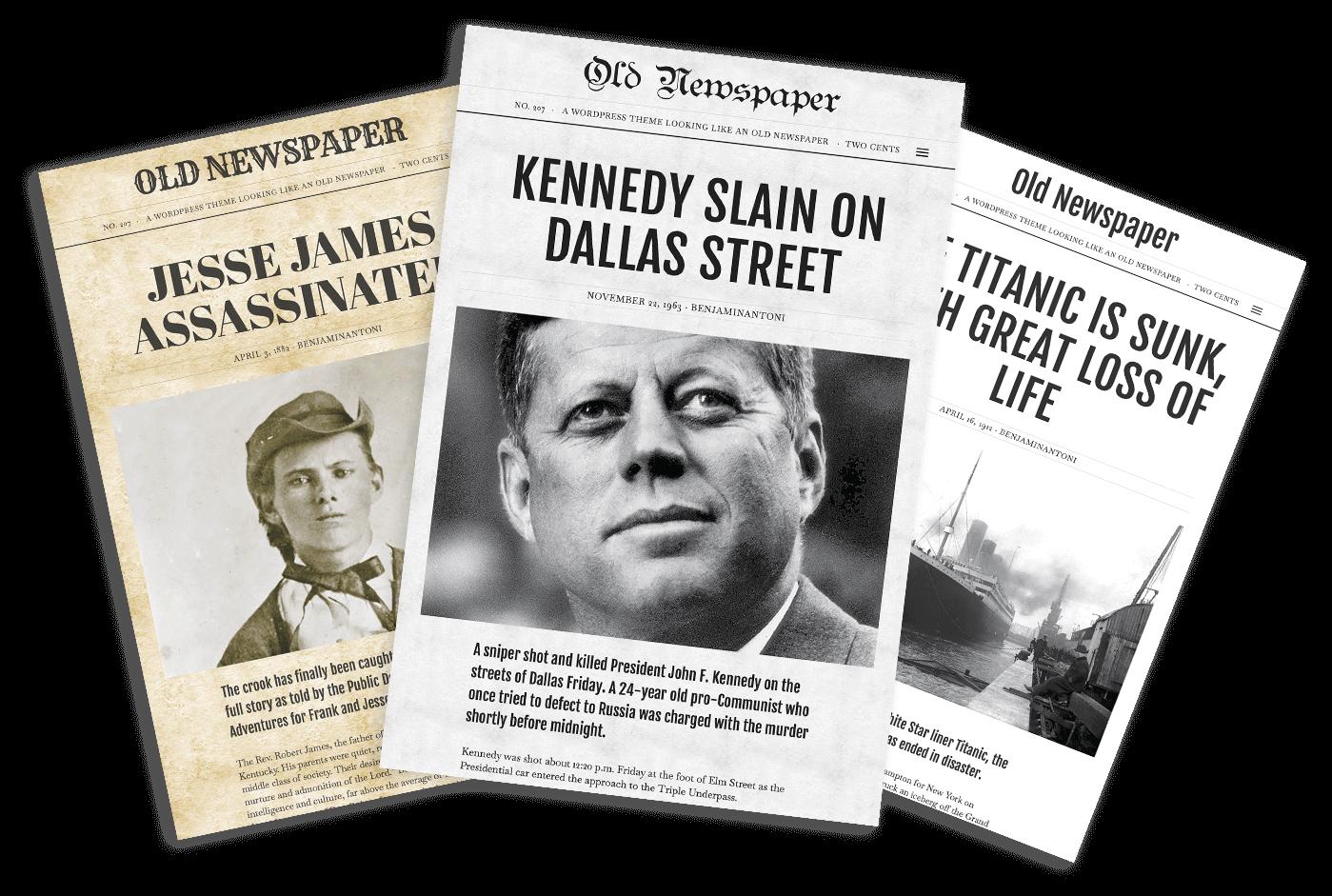 Old Newspaper WordPress Theme Styles